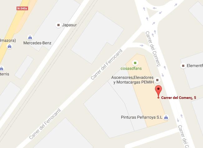 Mapa de la delegación de Castellon
